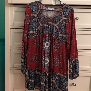 Super cute peasant dress!! Only worn once!!
